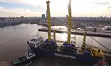 利渤海尔LHM 800移动式港口起重机在西班牙工作
