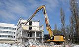 卡特349E STC长臂挖掘机拆楼