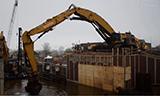 卡特5110B长臂挖掘机工作