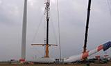 特雷克斯AC1000-9全地面起重机吊装风机