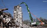 卡特390F STC长臂挖掘机强悍拆楼