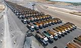 壮观!土耳其伊斯坦布尔机场建设动用1453台自卸车!