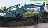 泰国神钢SK200挖掘机工作