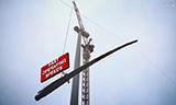 沃尔夫700B塔式起重机吊装风机