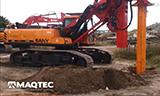 三一SR150履带式旋挖钻机工作