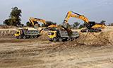 三一SY480挖机工作