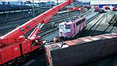 大型铁路吊车工作