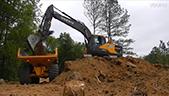 沃尔沃挖掘机装车