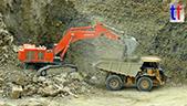 日立Zaxis870LCH矿用挖机工作