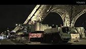 利渤海尔全地面起重机在埃菲尔铁塔工作