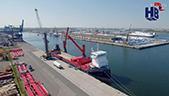利渤海尔港口桥式起重机装船运输