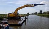 小松PX210挖掘机荷兰河道施工
