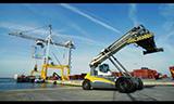 利勃海尔LRS 545集装箱正面吊工作