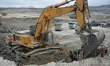 利勃海尔R974B挖掘机工作