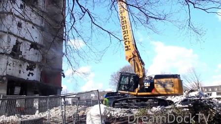 卡特彼勒349E挖掘机拆除建筑物