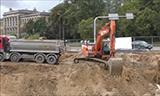 斗山挖掘机工作