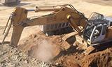 利勃海尔R964B液压挖掘机装车