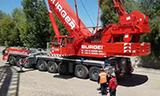 利勃海尔LTM1500-8.1全地面起重机带配重倒车