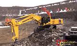 小松PC700LC-11 挖掘机装载小松HM300-5自卸车