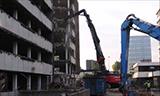 日立Zaxis 520 KMC长臂挖掘机拆楼