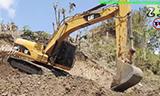 卡特彼勒320D挖掘机工作