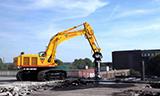 日立ZAXIS 650-3 挖掘机带液压剪工作