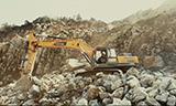 雷沃挖掘机凭借强悍实力 赢得采石场业主口碑
