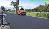 住友HA60C沥青摊铺机在印尼农村公路施工