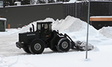 斯堪尼亚轮式装载机除雪