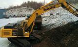 小松PC360LC-10挖掘机雪天工作