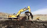 利勃海尔964 挖掘机在煤矿工作