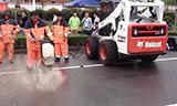 山猫手持式液压工具切割路面