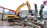 卡特336D LN挖掘机拆除厂房