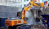 利勃海尔R 964C挖掘机拆楼