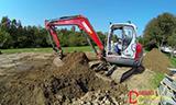 纽森8003小型挖掘机工作