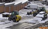 Kramer Allrad 380和 180小型轮式装载机除雪