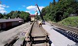 德马格铁路起重机吊装铁轨
