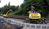 利勃海尔A900挖掘机工作