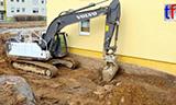 沃尔沃EC220E L 挖掘机开挖地基