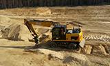 卡特M315D轮式挖掘机工作