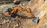 利勃海尔R974 挖掘机工作