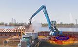 特雷克斯Fuchs MHL 360抓料机卸船