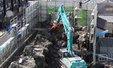 神钢SK480D挖掘机在团地拆楼