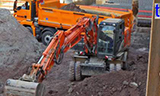 日立轮式挖掘机工作