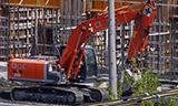 日立ZX200挖掘机工作
