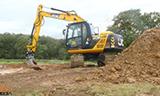 杰西博 JS130挖掘机工作