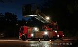 德国消防车登高车工作