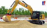 卡特320挖掘机工作