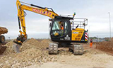 杰西博JS130挖掘机工作