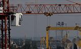 港口起重机623吨风电支架吊装